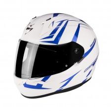 Scorpion EXO 390 HAWK Blanc perle Bleu