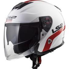 LS2 INFINITY SMART Blanc Rouge