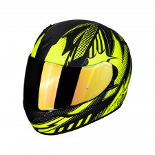 Scorpion EXO-390 POP Matt Black-Neon yellow