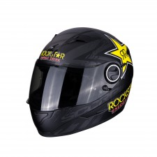 Scorpion EXO-490 Rockstar Matt Black-Yellow-Red