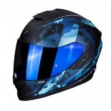 Scorpion EXO-1400 AIR SYLEX Matt Black-Blue