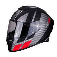 Scorpion EXO-R1 AIR CORPUS Matt Black-Silver-Red