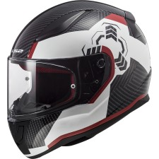 LS2 FF353 RAPID GHOST WHITE NOIR RED