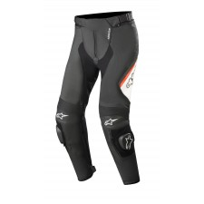 Alpinestars Missile V2 Leather Pants Black White Red Fluo
