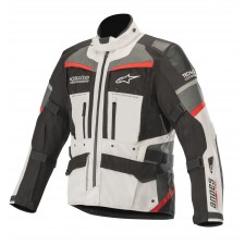 Alpinestars Andes Pro Drystar Jacket Tech-air Compatible Light Gray Black Dark Gray Red