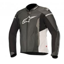 Alpinestars Faster Leather Jacket Black White