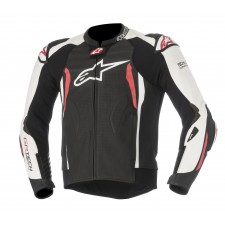 Alpinestars Gp Tech V2 Leather Jacket Tech-air Compatible Black White Red