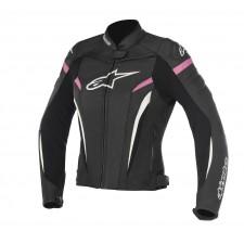 Alpinestars Stella Gp Plus R V2 Leather Jacket Black Fuchsia
