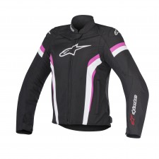 Alpinestars Stella T-gp Plus R V2 Jacket Black White Fuchsia