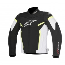 Alpinestars T-gp Plus R V2 Jacket Black White Yellow Fluo