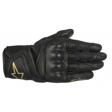 Alpinestars Stella Baika Leather Gloves Black Gold