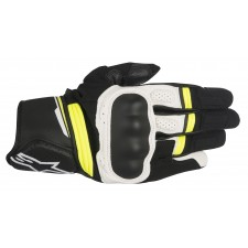 Alpinestars Booster Glove Black White Yellow Fluo