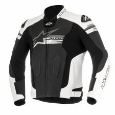 Alpinestars Fuji Leather Jacket Black White