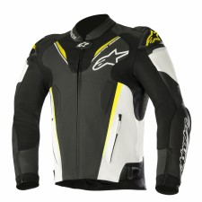 Alpinestars Atem V3 Leather Jacket Black White Yellow Fluo
