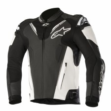 Alpinestars Atem V3 Leather Jacket Black White