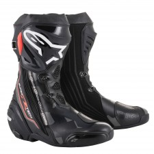 Alpinestars Supertech R Black Dark Gray Red Fluo