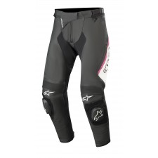 Alpinestars Stella Missile V2 Leather Pants Black White Fuchsia