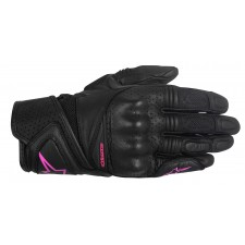 Alpinestars Stella Baika Leather Gloves Black Fuchsia