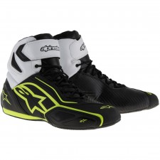 Alpinestars Faster-2 Waterproof Shoes Black White Yellow Fluo