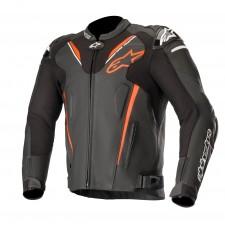 Alpinestars Atem V3 Leather Jacket Black Red Fluo