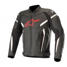 Alpinestars Gp Plus R V2 Leather Jacket Black Red Fluo