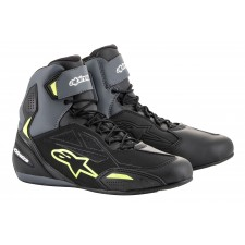 Alpinestars Faster-3 Drystar Shoes Black Gray Yellow Fluo